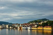 Blick auf die Stadt Bergen in Norwegen by Rico Ködder