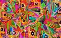 Abstract Pattern With Butterflies von Elena Oglezneva