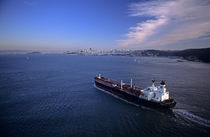 Tanker entering San Francisco Bay by Jim Corwin