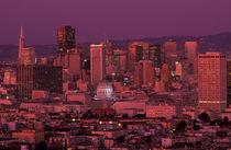 Sunset on San Franscisco von Jim Corwin