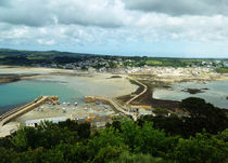 View on Marazion from St. Michales Mount in Cornwall by Sabine Radtke