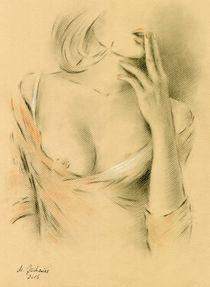 Verführung - erotische Zeichnung von Marita Zacharias