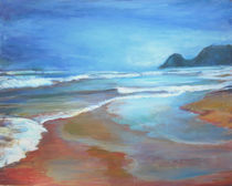Wo sich die Wellen mit dem Strand vermischen ... von Renée König