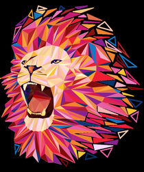 roaring lion by ancello