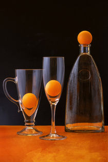 Still life with orange balls by Valentin Ivantsov