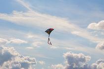 schöner Drachen fliegt im Wind by Karsten Bergmann