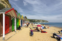 Swanage beach huts  by Rob Hawkins