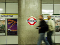Embankment - London Tube Station by Ruth Klapproth
