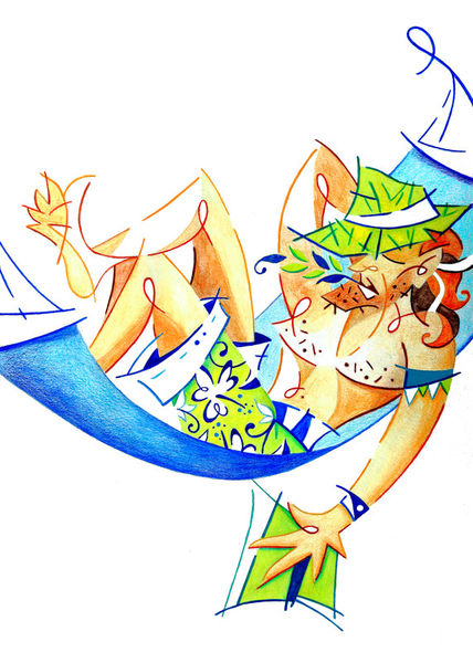 Keep-calm-enjoy-life-summer-holiday-illustration