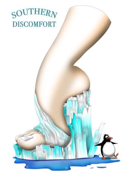 Shoe-art-design-penguin-ice