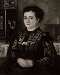 A. Renoir, Frau in Bluse aus Chantilly-Spitze von AKG  Images