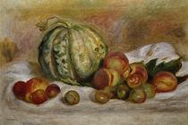 A.Renoir, Stilleben mit Melone, Pfirsichen und Pflaumen / Gemälde by AKG  Images
