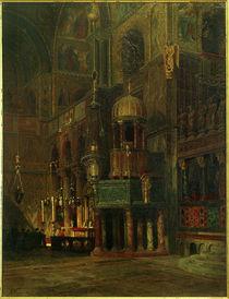 Venedig, S.Marco, innen, Querhaus / Gemälde von R. von Hagn von AKG  Images