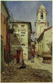 H.Petersen-Flensburg, Straße in Sestri Levante by AKG  Images