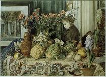 R.v.Alt, Interieur, Stillleben mit Gemüse und Blumen by AKG  Images