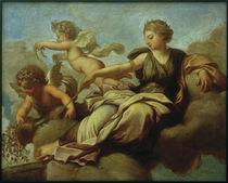 E.Le Sueur, Juno verteilt Almosen über Karthago von AKG  Images
