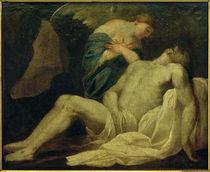 L.Baugin (zugeschr.), Christus im Grab von einem Engel bewacht von AKG  Images