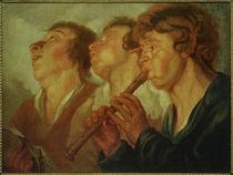 n.Jacob Jordaens, Zwei Sänger und ein Flötenspieler von AKG  Images