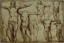 A.Casolani zugeschr., Gekreuzigter Christus (Skizze) von AKG  Images