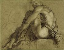 A.Carracci, Sitzender Akt von AKG  Images