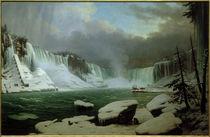 H.Sebron, Der große Niagarafall (Amerika), Winteransicht by AKG  Images
