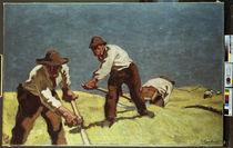 A.Egger-Lienz, Mähende Bergbauern von AKG  Images