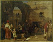 E.Meyer, Am marktplatz und Brunnen bei Tivoli von AKG  Images