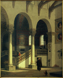 Ravenna, S.Apollinare in Classe / Gemälde v. Heinrich Hansen von AKG  Images