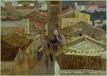A.Wilckens, Blick auf die Dächer von Taormina von AKG  Images