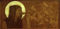 Ch.Spindler, Heilige mit Lilien von AKG  Images