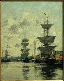 E. Boudin, Das Hafenbecken von Deauville von AKG  Images