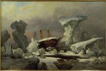 A.Becker, Arktische Landschaft mit Schiff by AKG  Images