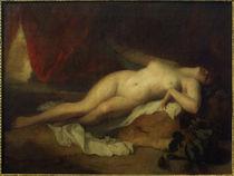 Tod der Kleopatra / Gem.v. Gigoux von AKG  Images