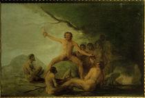 F.de Goya, Kannibalen, menschliche Überreste zeigend by AKG  Images