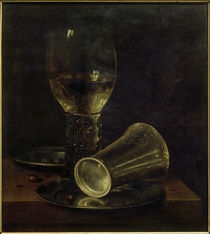W. C. Heda, Still life with inverted drinking cup / Oil painting, 17th century by AKG  Images