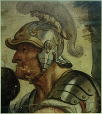 Jacob Jordaens, Büste eines Kriegers mit Helm by AKG  Images