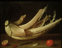 Anonym (span.), Stillleben mit Karde und Früchten von AKG  Images