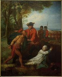 B.West, General Johnson rettet einen verwundeten französischen Offizier von AKG  Images
