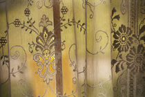 Close-up of floral lace curtain. by Danita Delimont