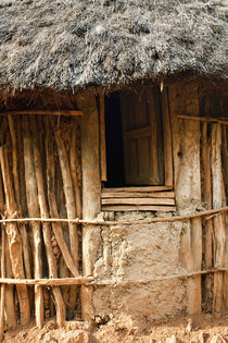 Traditional Konso village on a mountain ridge overlooking th... by Danita Delimont