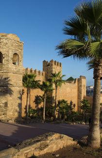 Rabat Morocco beautiful Kasbah Udaya at sunset with walls an... von Danita Delimont