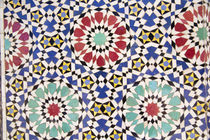 Africa, Morocco, Fes, Fes Medina, Tiles in Morocco are also ... von Danita Delimont