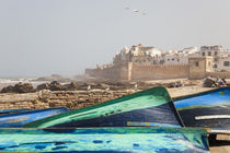Boats & city walls, Essaouira, Morocco by Danita Delimont