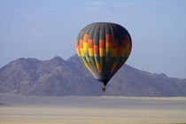 Aerial view of Hot air balloon over Namib Desert, near Sesri... von Danita Delimont