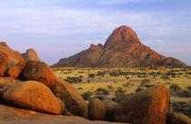 Rocky outcrop and plain, Spitzkoppe, Erongo, Namibia. by Danita Delimont