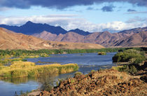 View of Orange River, Richtersveld Transfrontier Park, Namibia by Danita Delimont