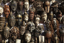 Mask stall at African curio market, Greenmarket Square, Cape... by Danita Delimont