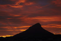 Sunset over Lion's Head, Table Mountain, Cape Town, South Africa. by Danita Delimont