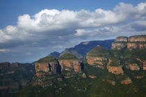 View over The Three Rondavels, Blyde River Canyon, Mpumalang... by Danita Delimont