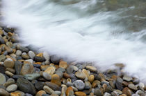 Waves breaking onto pebbles, Tsitsikamma National Park, West... by Danita Delimont